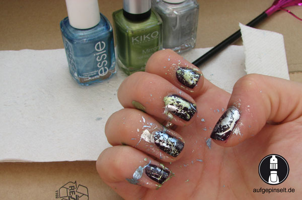 splatter nails tutorial
