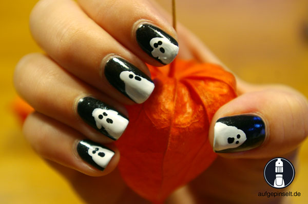 halloween, gespenst, geist, nageldesign