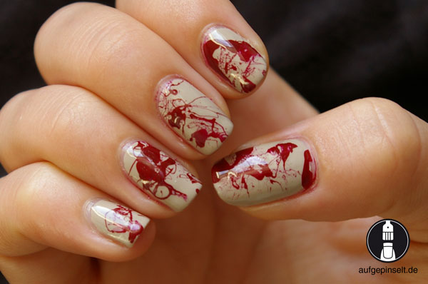 halloween blut nageldesign