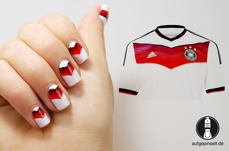nageldesign wm trikot 2014