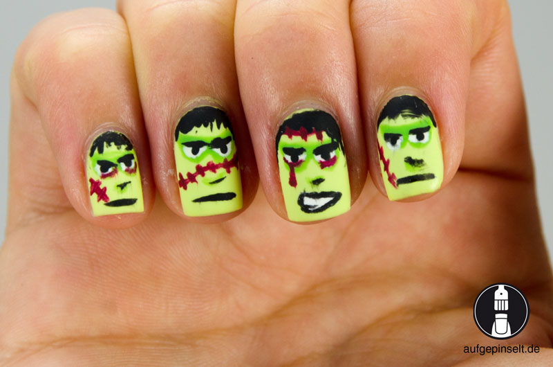 frankenstein nageldesign