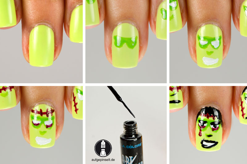 tutorial halloween nail art