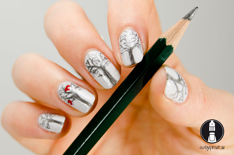 bleistift nageldesign