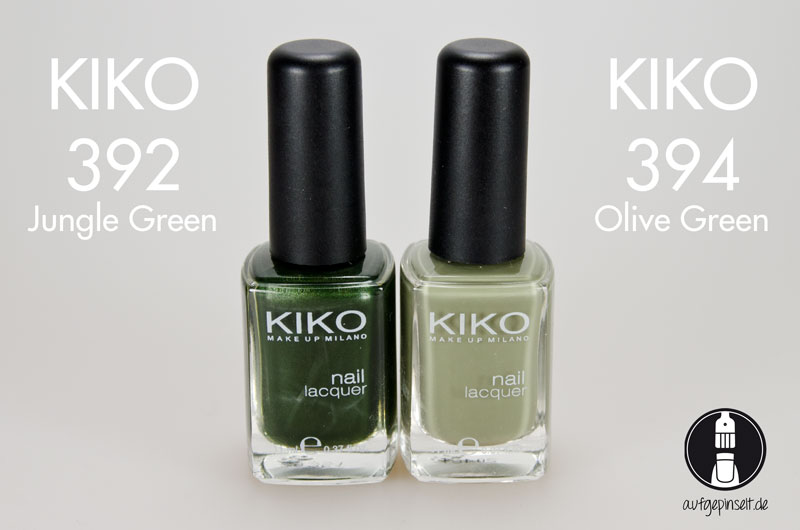 KIKO 392 Jungle Green | KIKO 394 Olive Green