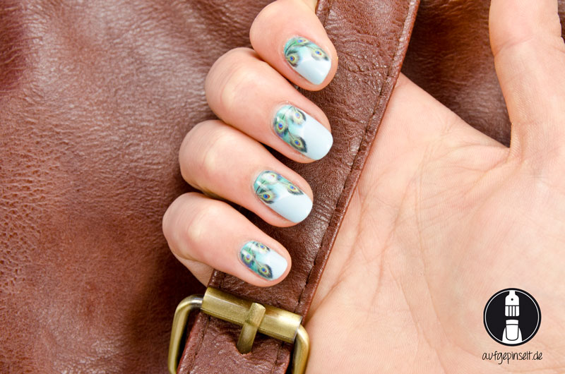Nail Art Water Decal Pfauenauge
