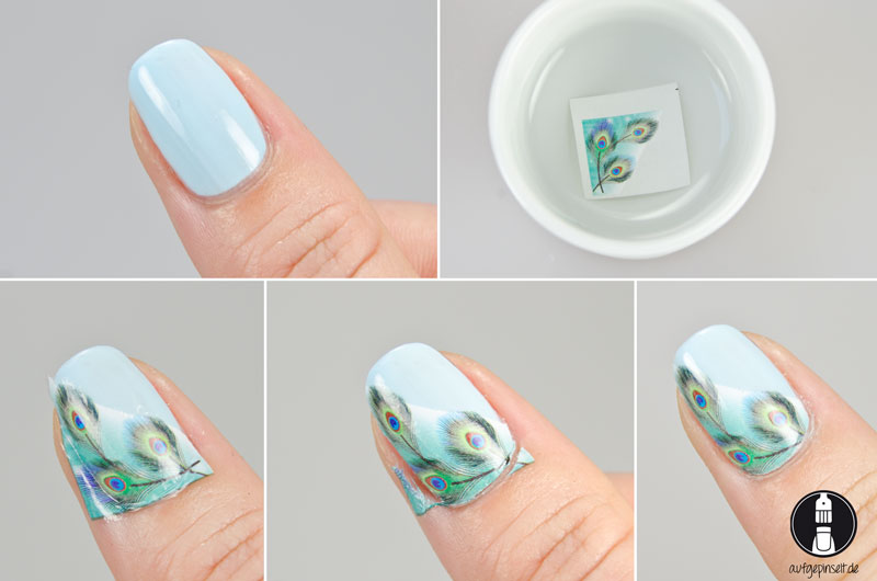 Pictorial: Nail Art Water Decal Pfauenauge