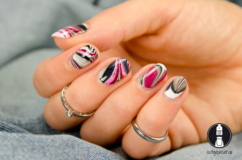 Water Marble Nageldesign
