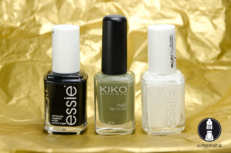 essie licorice | Kiko 394 Olive Green | essie bland