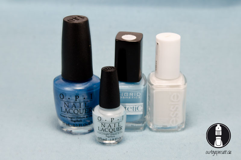 OPI - Dining al Frisco | OPI - It's a boy | Ingrid | essie - blanc